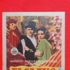 Cine: EL CLAVO, SENCILLO 1944, EXCTE. ESTADO, AMPARITO RIVELLES RAFAEL DURÁN, CON PUBLICIDA PLAZA DE TOROS. Lote 39023960