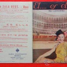 Cine: EL... ES ELLA, DOBLE 1935, MEG LEMMONIER J. CARETTE, CON PUBLICIDAD SALA REUS. Lote 39025417