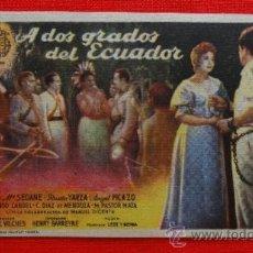 Cine: A DOS GRADOS DEL ECUADOR, IMPECABLE SENCILLO, JOSE Mª SEOANE ROSITA YARZA, CON PUBLI SALON TEATRO. Lote 39058019