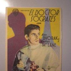 Cine: PROGRAMA DE CINE - EL DOCTOR SÓCRATES - 1935. Lote 39059957
