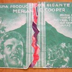 Cine: LOS ÚLTIMOS DIAS DE POMPEYA - PELICULA DE 1935 - BASIL RATHBONE - TROQUELADO - CON PUBLICIDAD. Lote 39075033