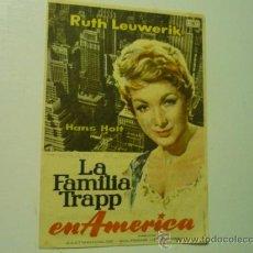 Cine: PROGRAMA LA FAMILIA TRAPP EN AMERICA.- RUTH LEUWERIK-PUBLICIDAD. Lote 39111084