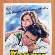 Cine: FANNY - PELICULA DE 1961 - LESLIE CARON, HORST BUCHHOLZ, MAURICE CHEVALIER - PUBLICIDAD CINE ESLAVA. Lote 172889612