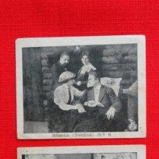 Cine: ATLANTIS, NORDISK, 2 RECLAM TIKET FILMS, CON ARGUMENTO, 1913. Lote 39154930