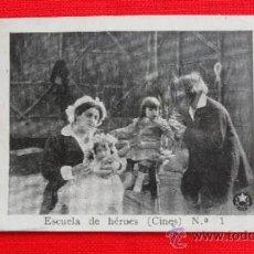 Cine: ESCUELA DE HEROES, CINES, IMPECABLE RECLAM TIKET FILMS Nº 1, CON ARGUMENTO, 1914. Lote 39155778