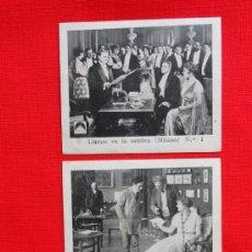 Cine: LLAMAS EN LA SOMBRA, MILANO, 3 RECLAM TIKET FILMS, CON ARGUMENTO, 1915 APROX. Lote 39156362