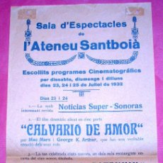 Cine: SANT BOI DE LLOBREGAT - ATENEU SANTBOIA - EL CRUCERO POTENKIN - 1932. Lote 39191448