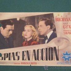 Cine: PROGRAMA DE CINE - ESPIAS EN ACCIÓN - 1940 - PUBLICIDAD. Lote 39263902