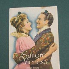 Cine: PROGRAMA DE CINE - SANGRE VIENESA - 1942 -PUBLICIDAD. Lote 39266163