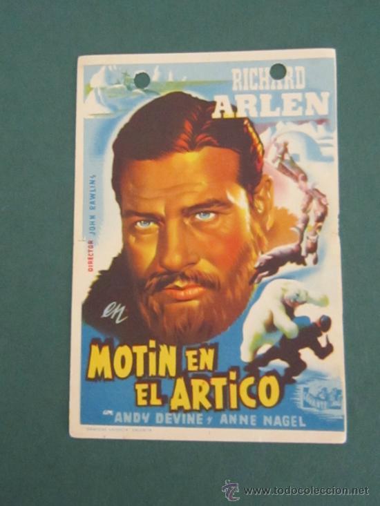 PROGRAMA DE CINE - MOTÍN EN EL ÁRTICO - 1941 (Cine - Folletos de Mano - Aventura)