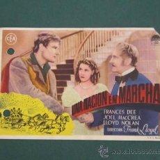 Cine: PROGRAMA DE CINE - UNA NACIÓN EN MARCHA - 1937 - DOBLADO . Lote 39283296