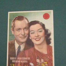 Cine: PROGRAMA DE CINE - INVITACIÓN PELIGROSA - 1939 - PUBLICIDAD. Lote 39284461