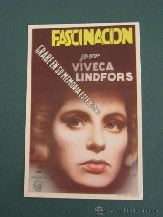 PROGRAMA DE CINE - FASCINACIÓN - 1944 (Cine - Folletos de Mano - Suspense)