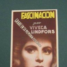 Cine: PROGRAMA DE CINE - FASCINACIÓN - 1944. Lote 39298821