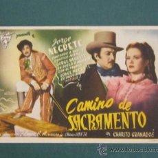 Cine: PROGRAMA DE CINE - CAMINO DE SACRAMENTO - 1945 - DOBLADO. Lote 39313686