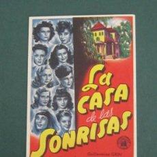 Cine: PROGRAMA DE CINE - LA CASA DE LAS SONRISAS - 1948. Lote 39314489