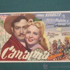 Cine: PROGRAMA DE CINE - CANAIMA EL DIOS DEL MAL - 1945. Lote 39315011