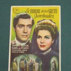 Cine: PROGRAMA DE CINE - LA TORRE DE LOS SIETE JOROBADOS - 1944. Lote 39315258