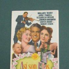 Cine: PROGRAMA DE CINE - ASÍ SON ELLAS - 1948 . Lote 39315600
