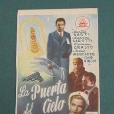 Cine: PROGRAMA DE CINE - LA PUERTA DEL CIELO - 1946 - PUBLICIDAD. Lote 39315702
