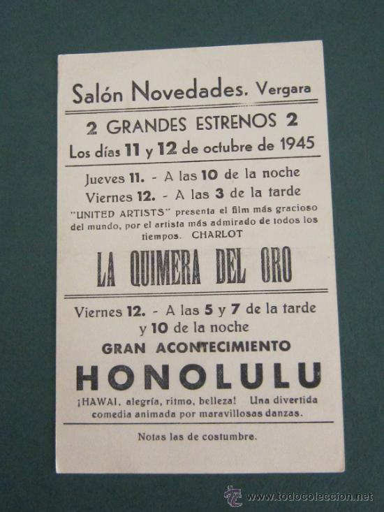 Cine: PROGRAMA DE CINE - HONOLULU - 1939 - PUBLICIDAD - DOBLADO - Foto 2 - 39298187