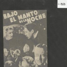 Cine: BAJO EL MANTO DE LA NOCHE- TEATRO CERVANTES - VER FOTOS - (C-1310). Lote 39208055