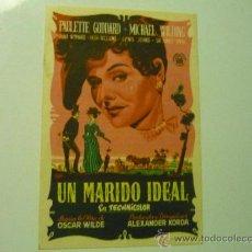 Cine: PROGRAMA UN MARIDO IDEAL .- PAULETTE GODDARD. Lote 39237764
