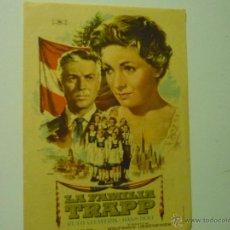 Cine: PROGRAMA LA FAMILIA TRAPP - RUTH LAUWERIK-PUBLICIDAD. Lote 39361156