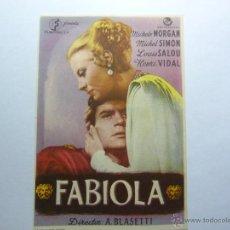 Cine: FOLLETO DE LA PELICULA ---FABIOLA ---DE MICHELE MORGAN MICHEL SIMON LOUIS SALOU HENRI VIDAL AÑO 1949. Lote 39366020