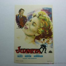 Cine: FOLLETO DE LA PELICULA ---JUANITA---DE HANNERL MATZ ADRIAN HOVEN PAUL HORBIGER. Lote 39366068