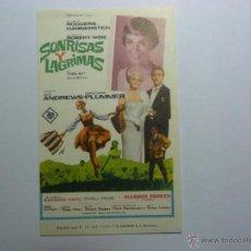 Cine: FOLLETO DE LA PELICULA ---SONRISAS Y LAGRIMAS ---JULIE ANDREWS PLIMMER DE 1965.. Lote 39366204