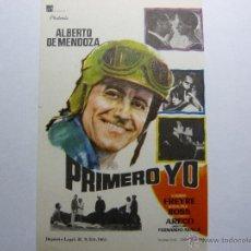 Cine: FOLLETO DE LA PELICULA ...PRIMERO YO----DE ALBERTO DEMENDOZA MARILINA ROSS. Lote 39366318