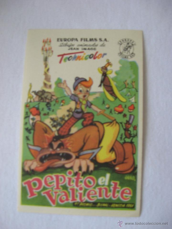 PEPITO EL VALIENTE (Cine - Folletos de Mano - Infantil)
