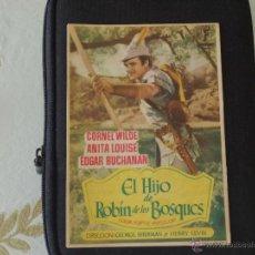Cine: EL HIJO DE ROBIN DE LOS BOSQUES EN REVERSO ANUNCIO CINE MARTINENSE AÑO 50. Lote 39441653