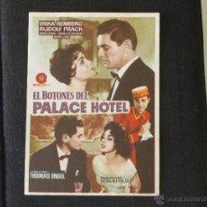 Cine: EL BOTONES DEL PALACE HOTEL -ERIKA REMBERG RUDOLF PRAC AÑOS 50. Lote 39441658