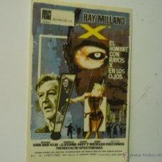 Cine: PROGRAMA EL HOMBRE CON RAYOS X EN LOS OJOS.-RAY MILLAND. Lote 39421813