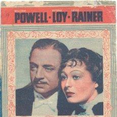 Cinema - EL GRAN ZIEGFELD, PROGRAMA DOBLE 1938/39 MGM, WILLIAM POWELL, MYRNA LOY, ESTADO, VER IMAGENES - 39422386