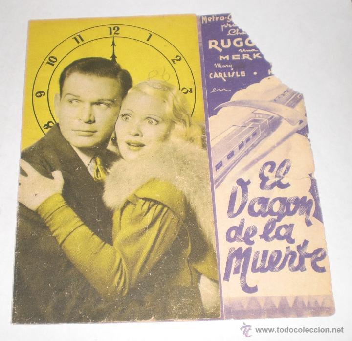 PROGRAMA DE CINE DOBLE - EL VAGON DE LA MUERTE (Cine - Folletos de Mano - Terror)