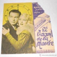 Cine: PROGRAMA DE CINE DOBLE - EL VAGON DE LA MUERTE. Lote 39423204