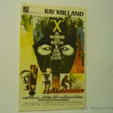 Cine: PROGRAMA EL HOMBRE CON RAYOS X EN LOS OJOS.-RAY MILLAND. Lote 39426892