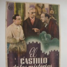 Cine: ANTIGUO FOLLETO CINE PELICULA EL CASTILLO DE LOS MISTERIOS - PROYECTADA EN ELCHE, AÑOS 40-50. Lote 39430629