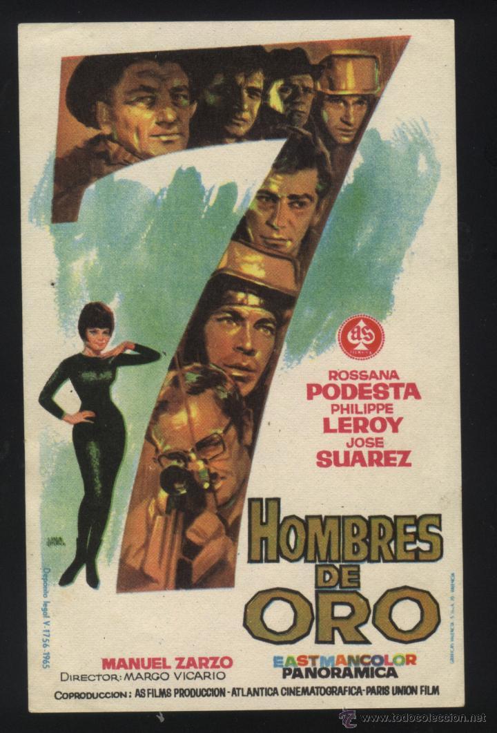 P-2294- 7 HOMBRES DE ORO (ROSSANA PODESTÀ - PHILIPPE LEROY - GASTONE MOSCHIN) (Cine - Folletos de Mano - Acción)