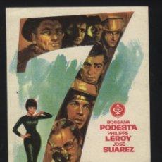 Cine: P-2294- 7 HOMBRES DE ORO (ROSSANA PODESTÀ - PHILIPPE LEROY - GASTONE MOSCHIN). Lote 39439029
