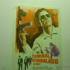 Folhetos de mão de filmes antigos de cinema: PROGRAMA CRIMINAL ACORRALADO.- JACK KELLY. Lote 39457645