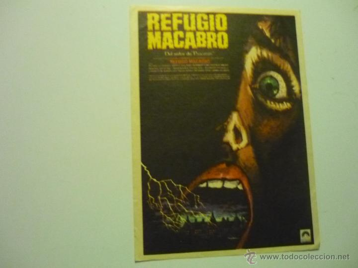 PROGRAMA REFUGIO MACABRO.- (Cine - Folletos de Mano - Terror)