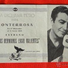Cine: TODOS LOS HERMANOS ERAN VALIENTES, DOBLE MGM, EXCTE. ESTADO, ROBERT TAYLOR S. GRANGER,CON PUBLICIDAD. Lote 39569449