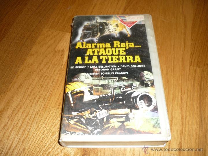PELICULA VHS 1986 ALARMA ROJA....ATAQUE A LA TIERRA - ED BISHOP (Cine - Folletos de Mano - Ciencia Ficción)