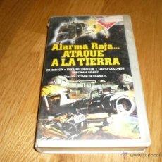 Cine: PELICULA VHS 1986 ALARMA ROJA....ATAQUE A LA TIERRA - ED BISHOP. Lote 39617651