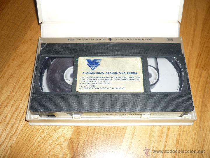 Cine: PELICULA VHS 1986 ALARMA ROJA....ATAQUE A LA TIERRA - ED BISHOP - Foto 2 - 39617651