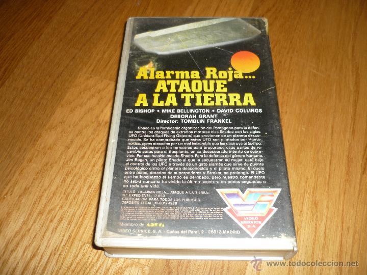 Cine: PELICULA VHS 1986 ALARMA ROJA....ATAQUE A LA TIERRA - ED BISHOP - Foto 3 - 39617651